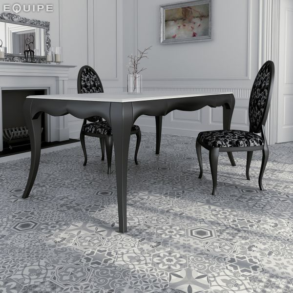 Carrelage sol et mur Hexagonale sol - Art Deco 2 Hexagonal B&W 17 ...