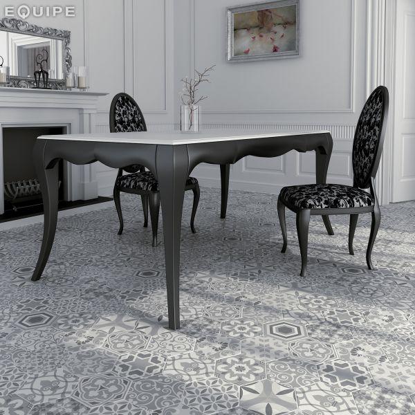 Carrelage sol et mur hexagonale sol art deco 2 hexagonal - Gres cerame imitation carreau ciment ...