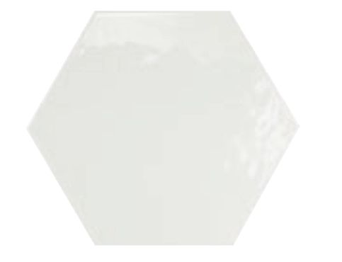 17 5x20 blanco brillo hexagonal carrelage de sol hexagonal de couleur uni c rame. Black Bedroom Furniture Sets. Home Design Ideas