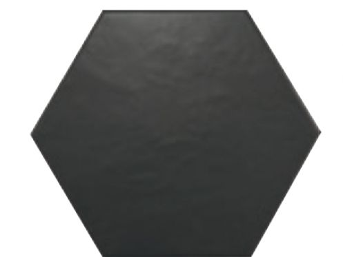 carrelages mosa ques et galets cuisine mural 17 5x20 negro mate hexagonal carrelage de sol. Black Bedroom Furniture Sets. Home Design Ideas
