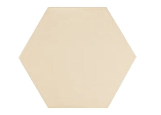 17 5x20 crema mate hexagonal carrelage de sol hexagonal de couleur uni c rame. Black Bedroom Furniture Sets. Home Design Ideas