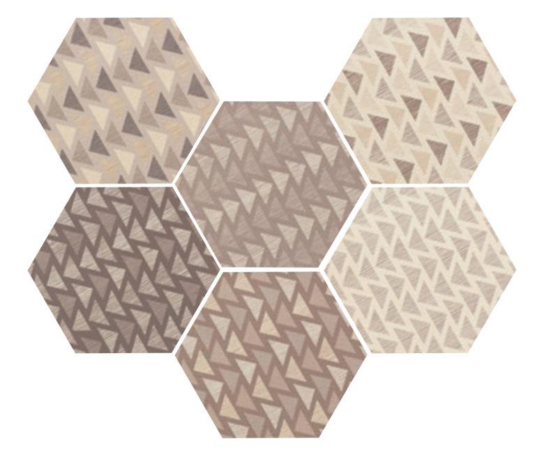Carrelages mosa ques et galets hexagonale sol art deco for Carrelage hexagonal gres cerame