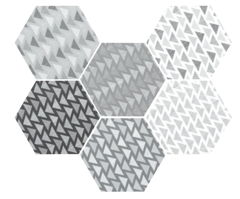 Carrelage sol et mur hexagonale sol art deco 2 hexagonal - Imitation carreaux de ciment ...