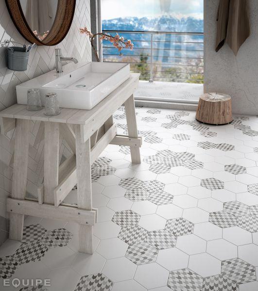 Carrelages Mosaïques Et Galets Aspect Cx Ciment Art Deco - Carrelage hexagonal sol