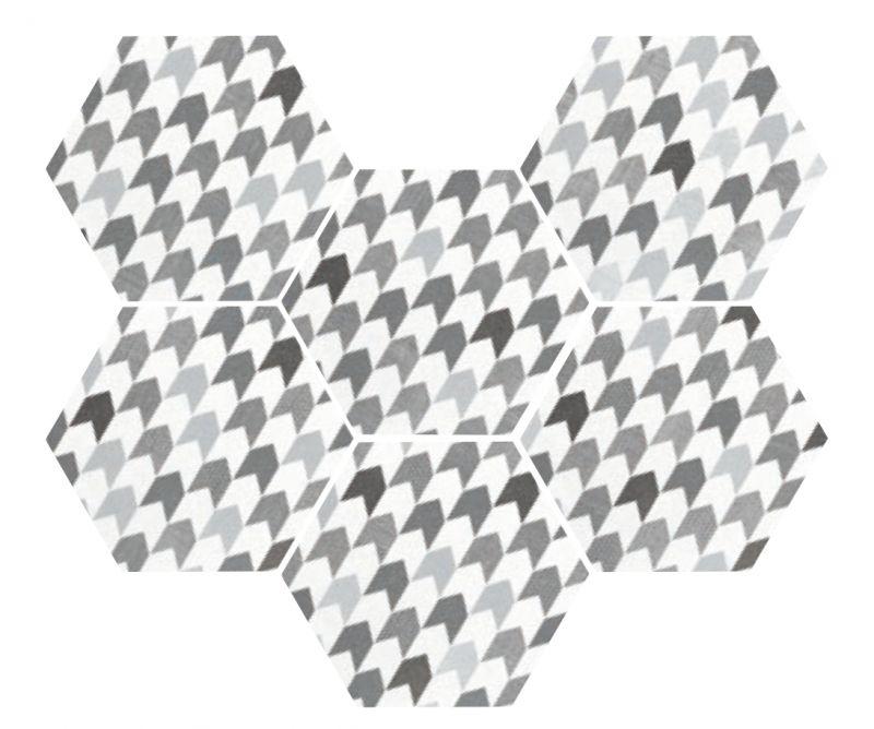 Carrelage sol et mur c ciment imitation art deco 4 for Carrelage hexagonal gres cerame