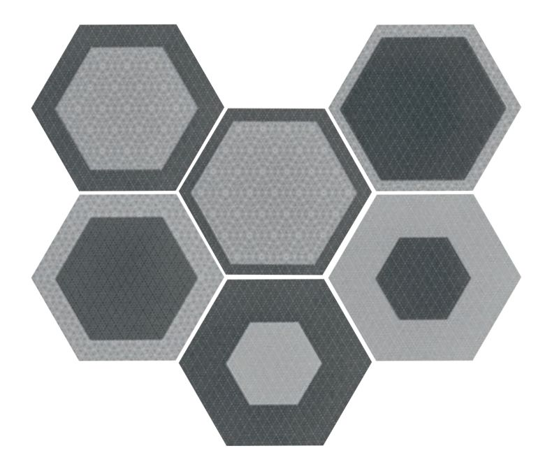 Carrelages mosa ques et galets aspect cx ciment art - Carrelage hexagonal sol ...