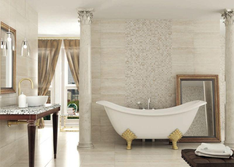 Carrelages mosa ques et galets terrasse caesar palace for Carrelage salle de bain sol et mur