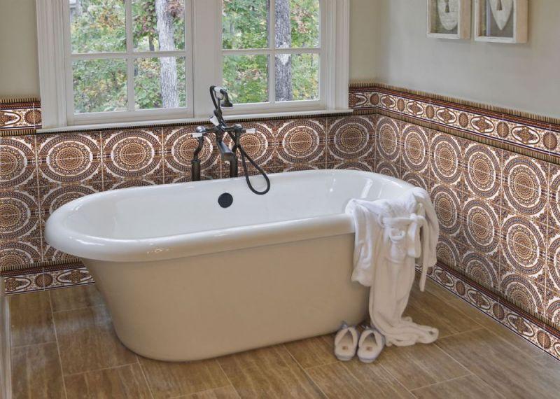 carrelages mosa ques et galets oriental azahar cenefa 14x28 cm carrelage fa ence au style. Black Bedroom Furniture Sets. Home Design Ideas