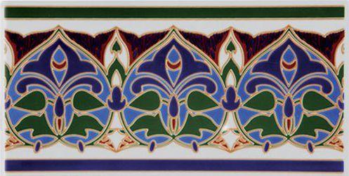 Carrelage sol et mur oriental karam cenefa 14x28 cm for Carrelage oriental