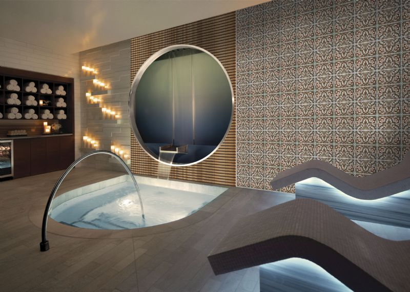 Carrelages mosa ques et galets oriental layal marron for Carrelage salle de bain orientale