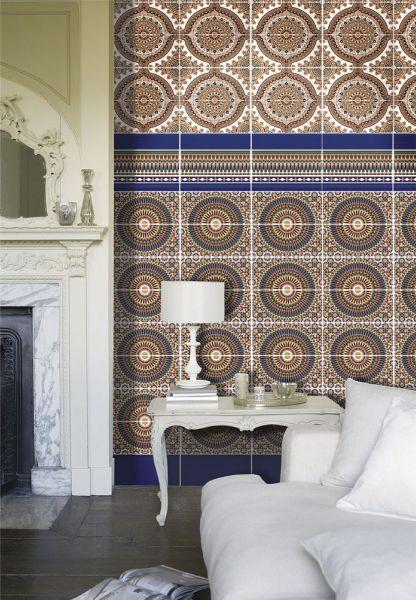 Carrelages Mosaiques Et Galets Oriental Tunez Base 14x28 Cm