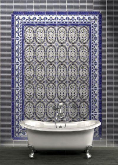 Carrelage sol et mur oriental motril azul cenefa 15x20 for Carrelage oriental