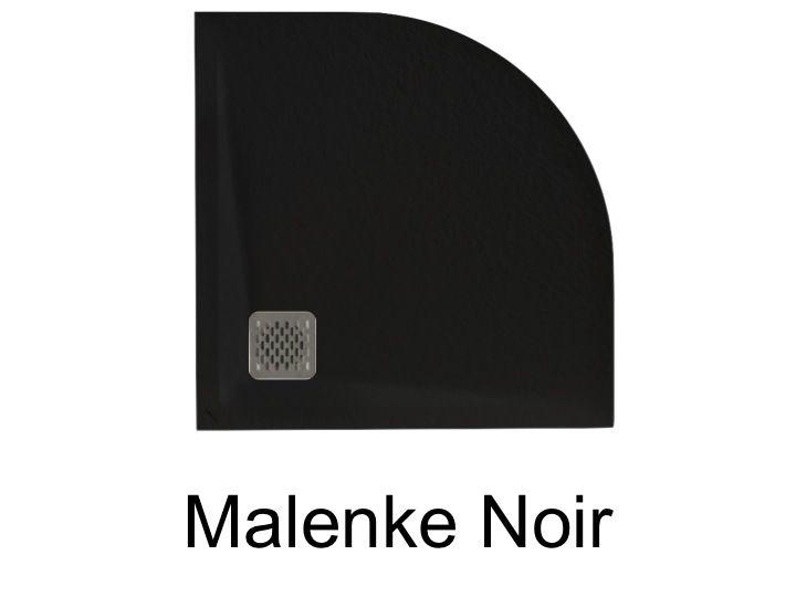 receveurs de douches longueur 80 receveur de douche quart de rond malenke q5 noir 80x80. Black Bedroom Furniture Sets. Home Design Ideas