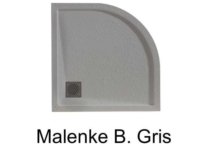 receveurs de douches longueur 80 receveur de douche quart de rond avec bordure de d bordement. Black Bedroom Furniture Sets. Home Design Ideas