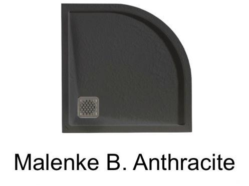 receveur de douche quart de rond avec bordure de. Black Bedroom Furniture Sets. Home Design Ideas