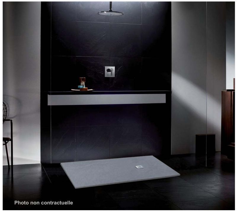 carr receveur de douche lisso gris ciment. Black Bedroom Furniture Sets. Home Design Ideas