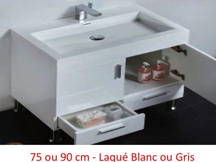 Meubles lave mains robinetteries meubles salle de bains for Meuble de salle de bain largeur 75 cm