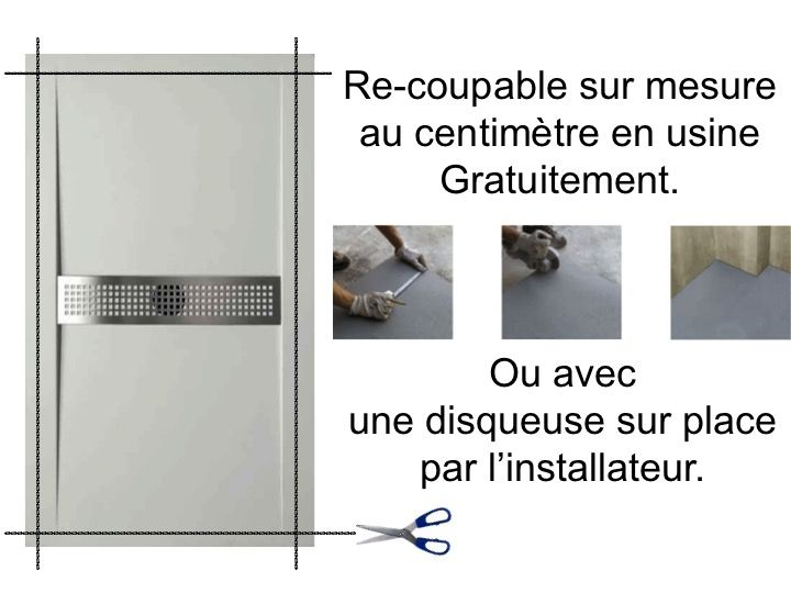 Receveurs de douches longueur 170 receveur de douche 170 for Caniveau de douche extra plat