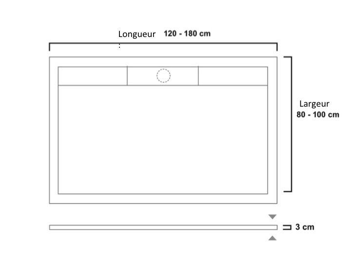 receveurs de douches longueur 150 receveur de douche 150 cm en r sine caniveau pop extra. Black Bedroom Furniture Sets. Home Design Ideas