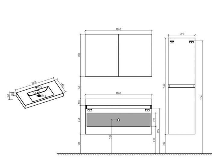 meubles lave mains robinetteries meubles sdb meuble de salle de bain 80 ou 100 cm nola 800. Black Bedroom Furniture Sets. Home Design Ideas