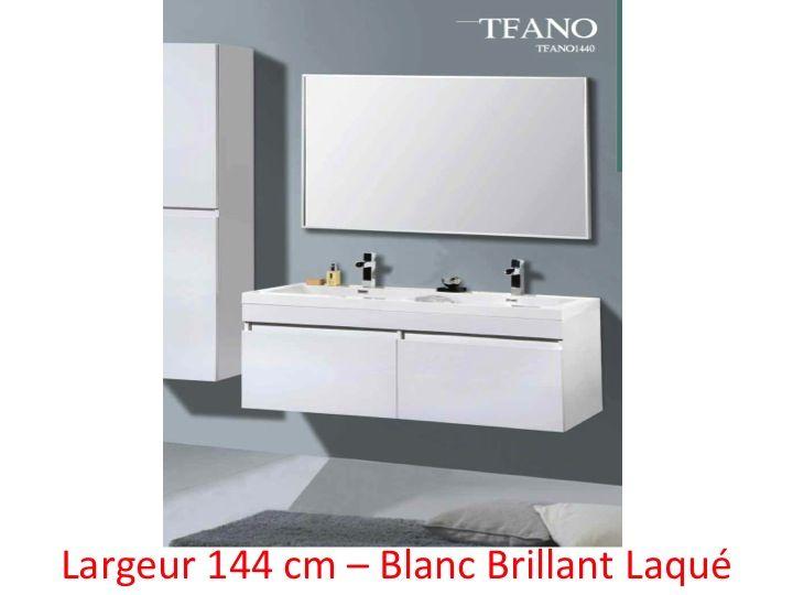 Meubles lave mains robinetteries meubles salle de bains meuble de salle d - Meuble de salle de bain blanc laque ...