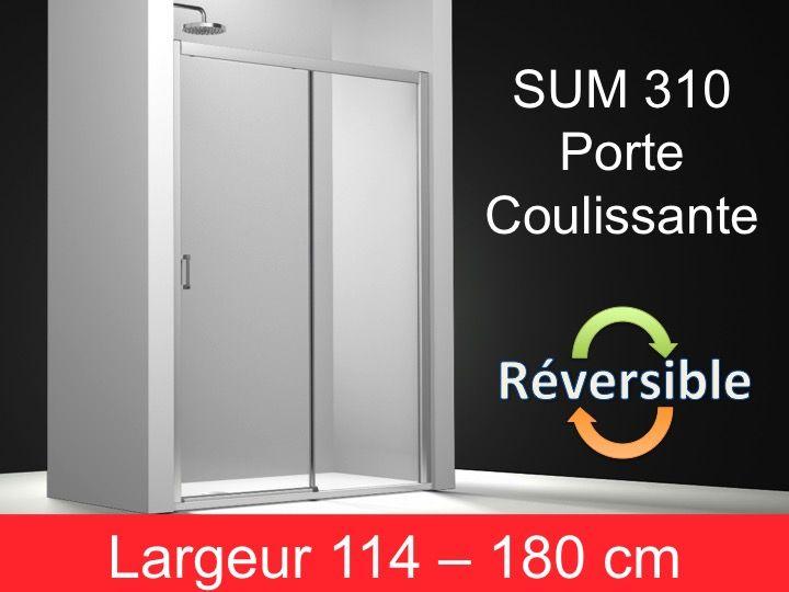 Paroi de douche accessoires porte de douche coulissante hauteur 195 cm s - Hauteur porte coulissante ...