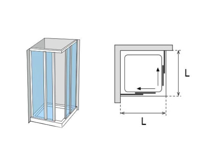 Paroi de douche accessoires porte de douche d 39 angle - Porte de douche 90 cm ...