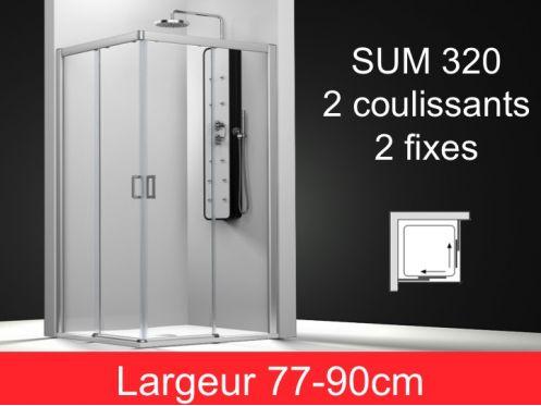 paroi de douche accessoires porte de douche coulissante angle hauteur 195 cm sum 320. Black Bedroom Furniture Sets. Home Design Ideas