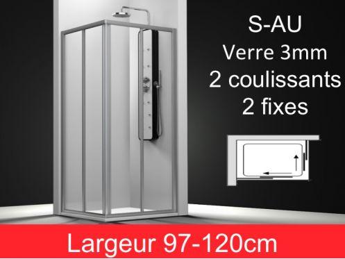 paroi de douche accessoires porte de douche d 39 angle largeur de 97 120 cm hauteur 195 cm au ar. Black Bedroom Furniture Sets. Home Design Ideas