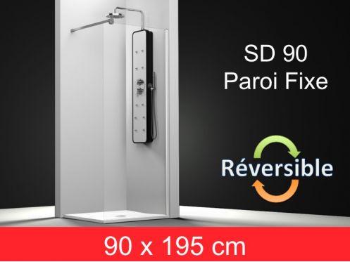 paroi de douche accessoires paroi de douche fixe 90x195 cm sd 90. Black Bedroom Furniture Sets. Home Design Ideas