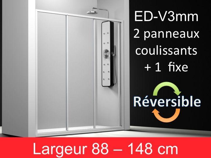 paroi de douche accessoires porte de douche fa ade 2 panneaux coulissants plus 1 panneau. Black Bedroom Furniture Sets. Home Design Ideas