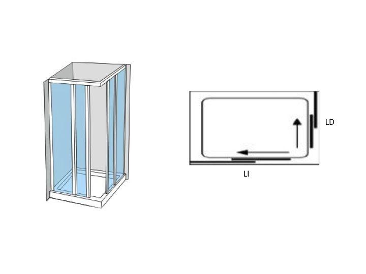 Paroi de douche accessoires porte de douche d 39 angle for Porte 70 cm de large