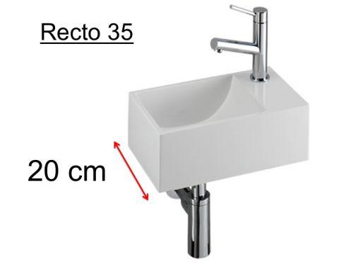lave mains wc en r sine profondeur 20 cm robinetterie. Black Bedroom Furniture Sets. Home Design Ideas