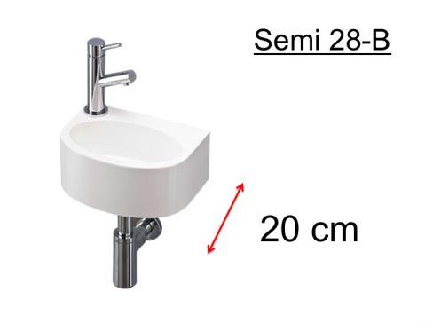 meubles lave mains robinetteries lave mains lave mains ultra petit semi arrondie en r sine. Black Bedroom Furniture Sets. Home Design Ideas