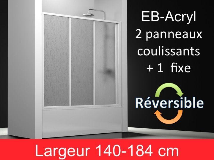 Paroi De Douche Accessoires Paroi De Baignoire Coulissante Acrylique Hauteur 150 Cm Eb