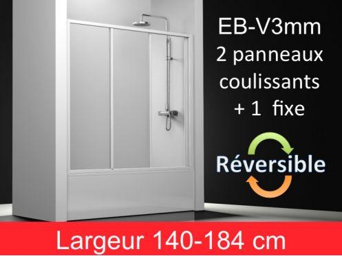 Paroi De Douche Accessoires Paroi De Baignoire Coulissante Verre Hauteur 150 Cm Eb