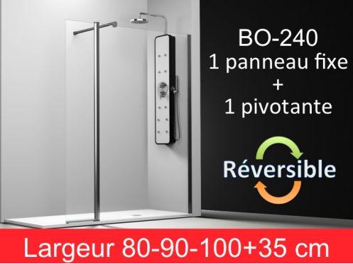 paroi de douche accessoires paroi de douche de 80 90 100 plus 35cm un panneau fixe avec un. Black Bedroom Furniture Sets. Home Design Ideas