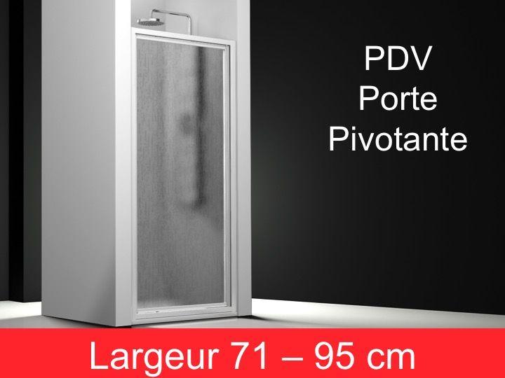 Paroi de douche accessoires porte de douche pivotante 1 for Porte douche 75 cm