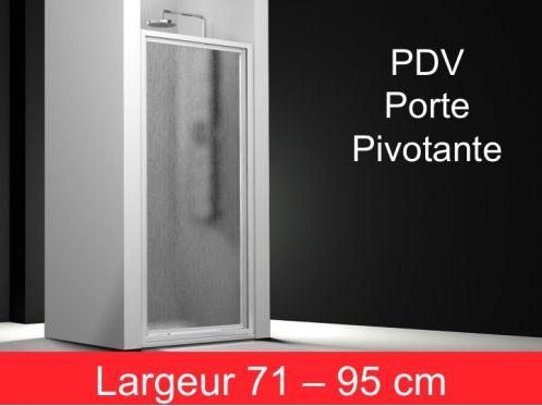paroi de douche accessoires porte de douche pivotante 1 panneau de 71 95 cm hauteur 195 cm. Black Bedroom Furniture Sets. Home Design Ideas