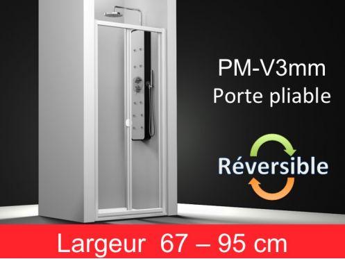 paroi de douche accessoires porte de douche pliable en verre largeur de 67 95 cm hauteur. Black Bedroom Furniture Sets. Home Design Ideas