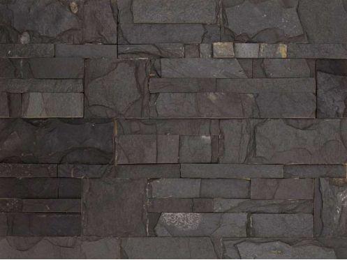 carrelages mosa ques et galets parement pierre parement mur pierre naturelle 18x35cm zeta noir. Black Bedroom Furniture Sets. Home Design Ideas