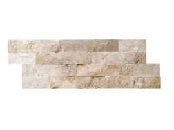 Parement mur pierre naturelle 18x50cm, Laja Travertine