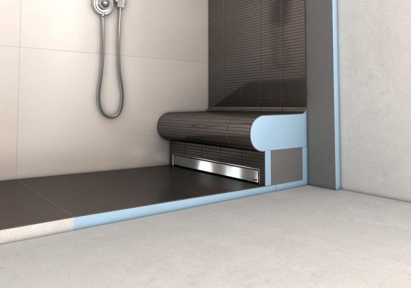 receveur a carreler ecoulement lineaire. Black Bedroom Furniture Sets. Home Design Ideas