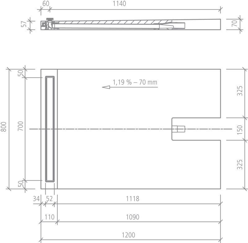 receveurs de douches a carreler wedi receveur de douche wedi fundo plano linea receveur avec. Black Bedroom Furniture Sets. Home Design Ideas