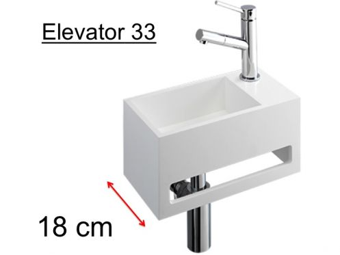 meubles lave mains robinetteries lave mains lave mains en solid surface type corian blanc. Black Bedroom Furniture Sets. Home Design Ideas