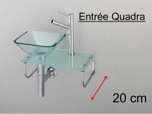 meubles lave mains robinetteries lave mains lave mains en verre avec vasque carr poser. Black Bedroom Furniture Sets. Home Design Ideas