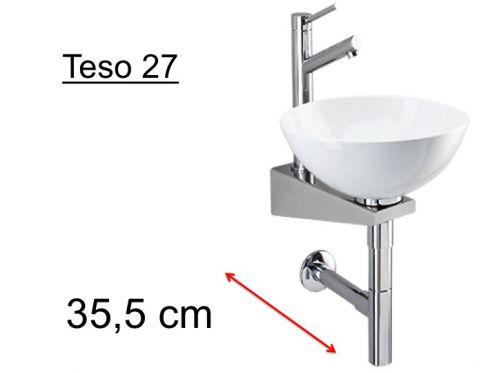 meubles lave mains robinetteries lave mains lave mains sur support inox vasque c ramique. Black Bedroom Furniture Sets. Home Design Ideas