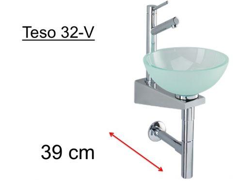 meubles lave mains robinetteries lave mains lave mains en verre vasque 32 cm sur support. Black Bedroom Furniture Sets. Home Design Ideas