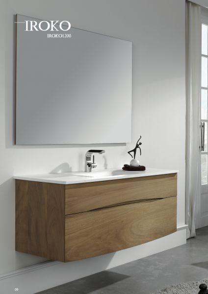 meuble salle de bain bois massif tiroir