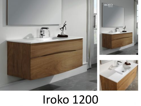 meubles lave mains robinetteries meubles sdb meuble de salle de bain 120 cm iroko 1200. Black Bedroom Furniture Sets. Home Design Ideas